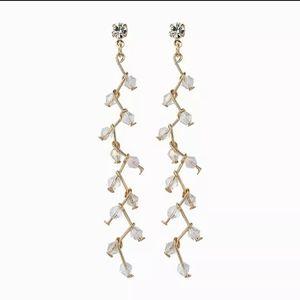 Jewelry - 🎀Floral Vine Long Drop Crystal Earrings